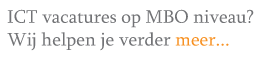 MBO ICT vacatures